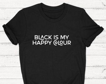 4b04db26f Black happy color, Happy color, Black is my, Black shirt, Black happy  colour, Black t-shirt, Black t shirt, Black heart, Black color