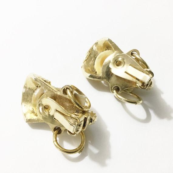 Selro earrings, vtg Selro, Asian earrings, Vtg cl… - image 5