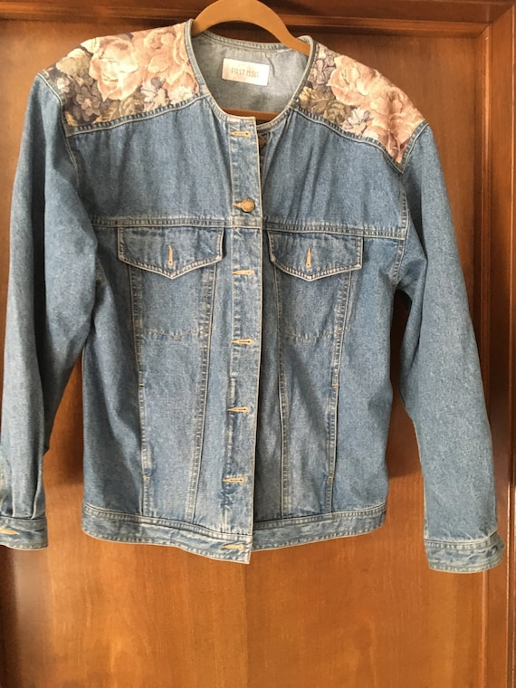 Floral Vintage Jean Statement Jacket