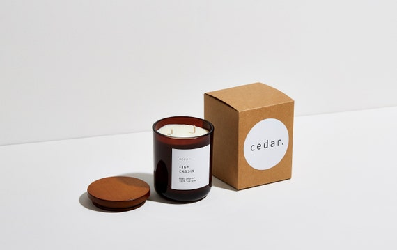 Fig + Cassis | Soy wax candle | relaxing fragrance | luxury candle | hand poured | vegan | 300ml | 55 hour burn