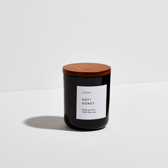 Hay + Honey| Soy wax candle | Conforting Fragrance| Luxury | Vegan | 300ml 55...