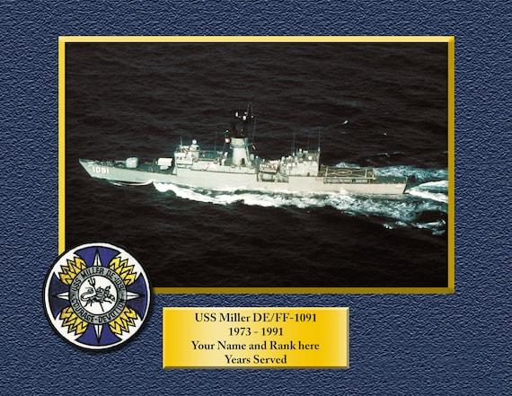 USS BOULDER LST 1190 License Plate Frame U S Navy USN Military