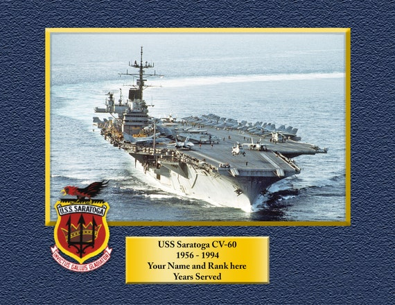 US Navy USS Saratoga CV-60 T-Shirt Aircraft Carrier