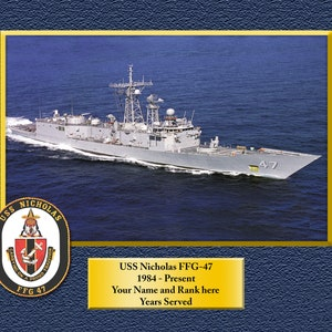 USS ESSEX LHD2 Custom Personalized 8.5 X 11.0 Print of US Navy Ships Unique Gift Idea for any Occasions