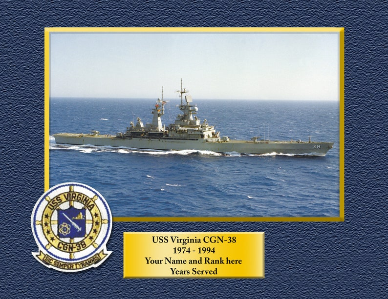 USS Truxtun DLGN-CGN35 Custom Personalized 8.5 X 11 Print of US Navy Ships Unique Gift Idea for any Occasions