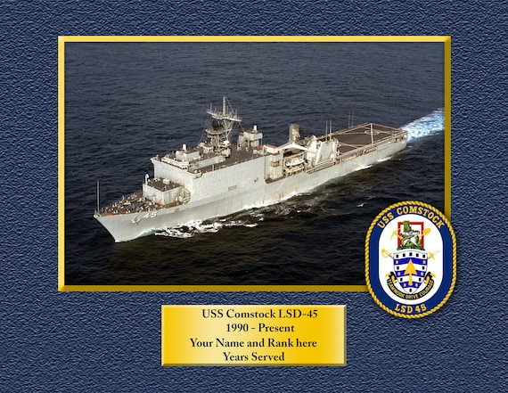 Naval Ship Photo Print USN Navy USS SHADWELL LSD 15