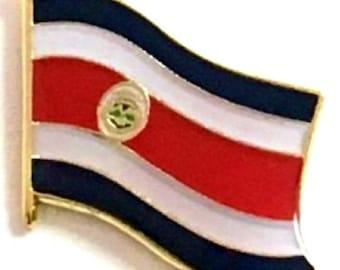 Costa Rica Flag Cufflinks with free organza pouch