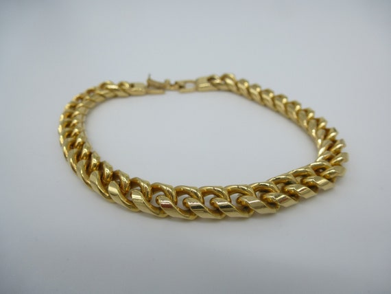 18 Karat Gold Armband Armreif 18K Luxus Vergoldet Damen Chain Bracelet Bangle