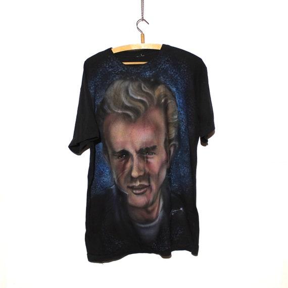 Vintage 1996 Airbrush James Dean T-Shirt - image 1