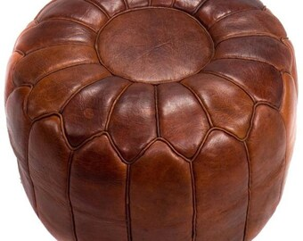 Amazing Pouf Luxury Pouf Brown Darker Leather Moroccan Pouf Leather Machost Co Dining Chair Design Ideas Machostcouk