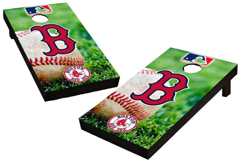 MLB Boston Red Sox Themed Custom Cornhole Boards  Regulation image 0