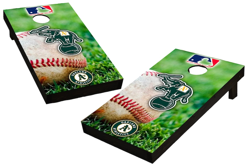 MLB Oakland Athletics Baseball Themed Custom Cornhole Boards  image 0