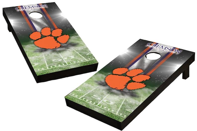 NCAA Clemson Tigers Custom Cornhole Boards  Regulation size image 0