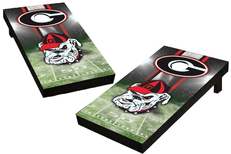 NCAA Georgia Bulldogs Custom Cornhole Boards  Regulation size image 0