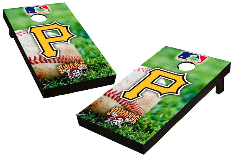 MLB Pittsburgh Pirates Themed Custom Cornhole Boards  image 0