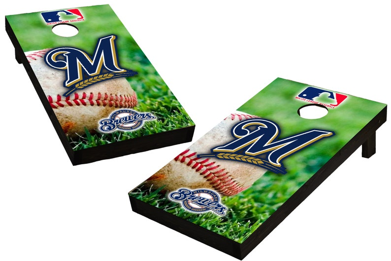 MLB Milwaukee Brewers Baseball Themed Custom Cornhole Boards  image 0