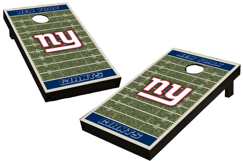 NFL New York Giants Themed Custom Cornhole Boards  Regulation image 0