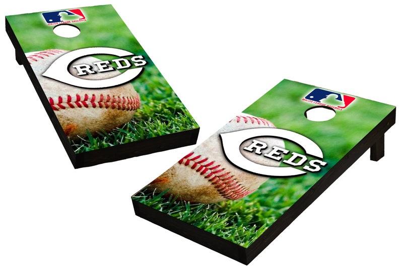 MLB Cincinnati Reds Themed Custom Cornhole Boards  Regulation image 0