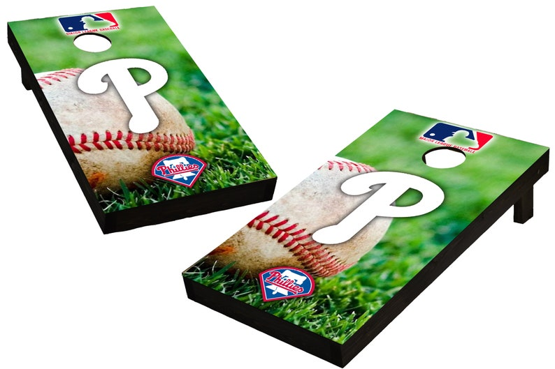MLB Philadelphia Phillies Themed Custom Cornhole Boards  image 0