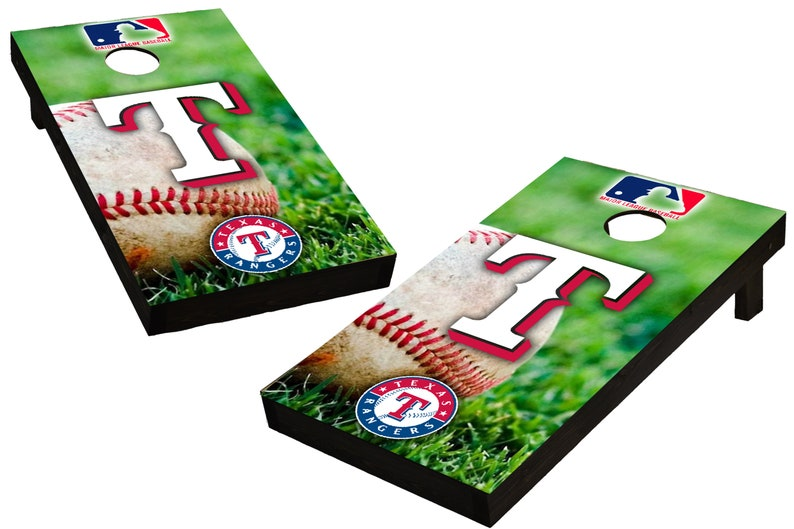 MLB Texas Rangers Themed Custom Cornhole Boards  Regulation image 0