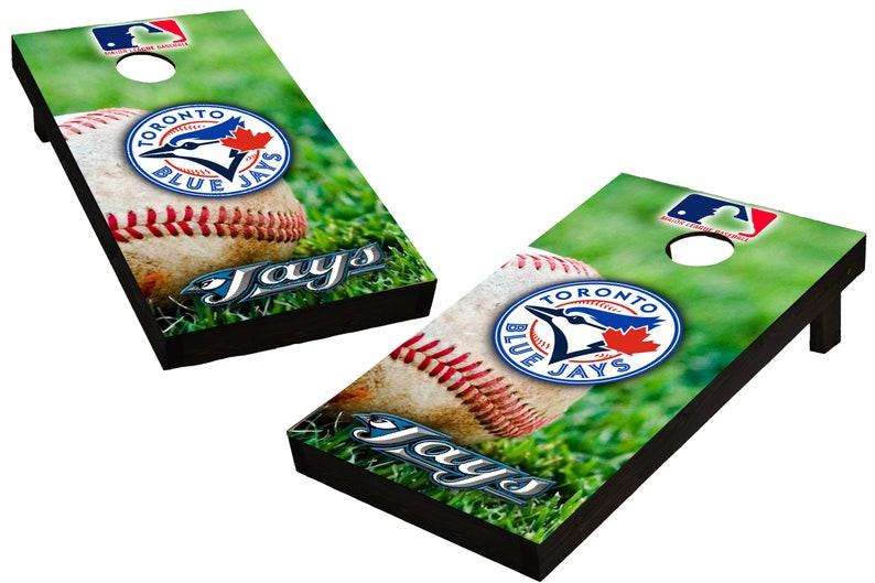 MLB Toronto Blue Jays Baseball Themed Custom Cornhole Boards  image 0