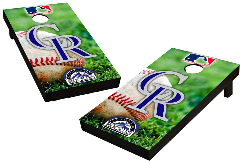 MLB Colorado Rockies Themed Custom Cornhole Boards  image 0
