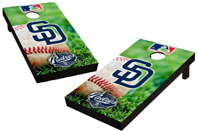 MLB San Diego Padres Themed Custom Cornhole Boards  image 0