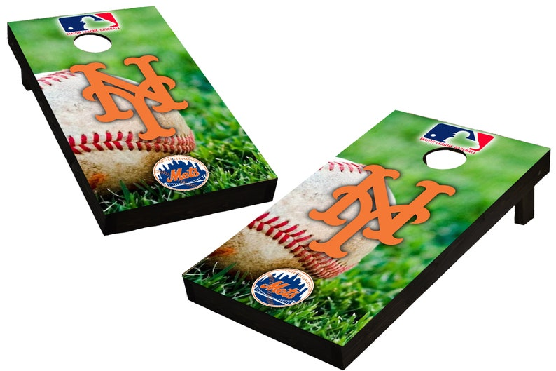 MLB New York Mets Themed Custom Cornhole Boards  Regulation image 0