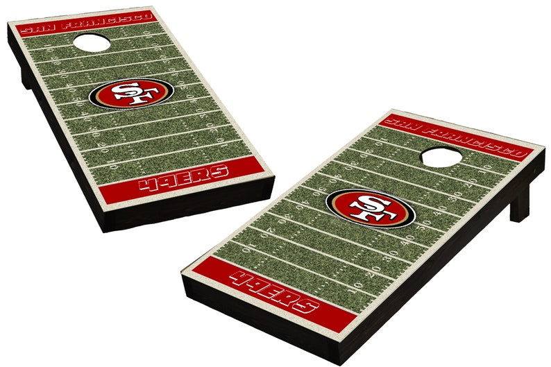 NFL San Francisco 49ers Themed Custom Cornhole Boards  image 0
