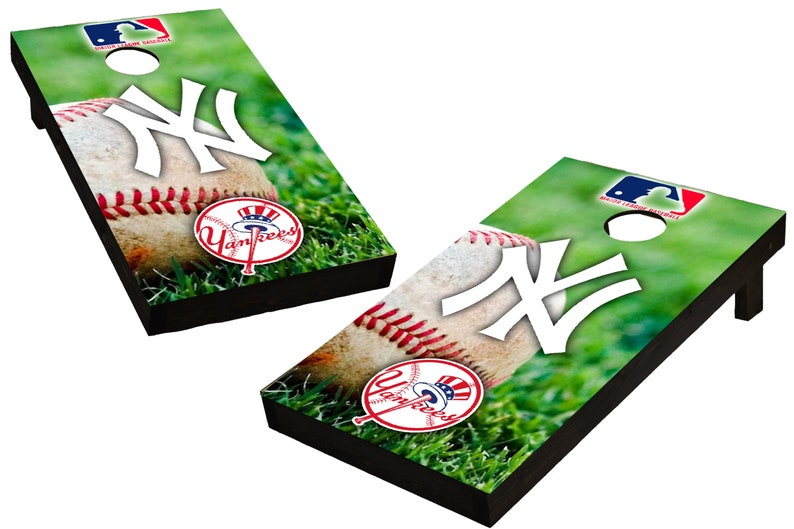 MLB New York Yankees Baseball Themed Custom Cornhole Boards  image 0