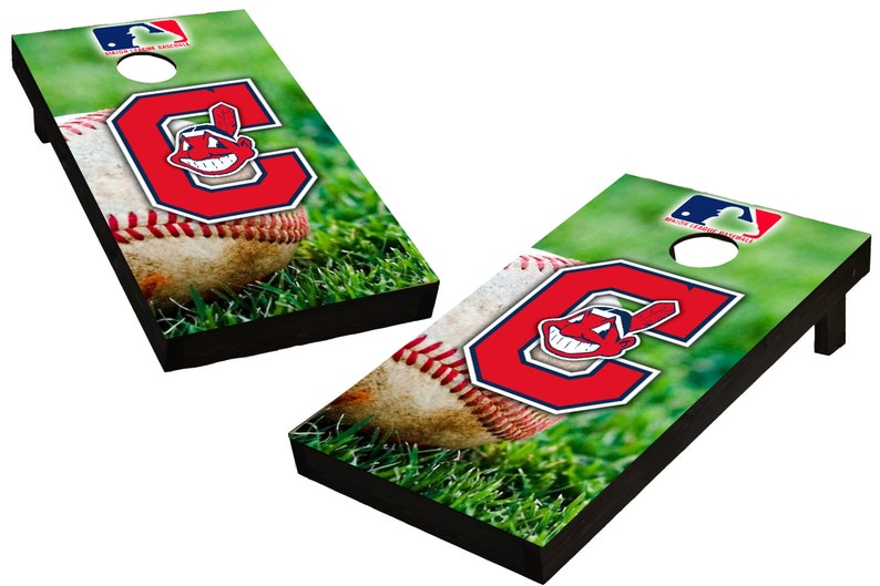 MLB Cleveland Indians Themed Custom Cornhole Boards  image 0