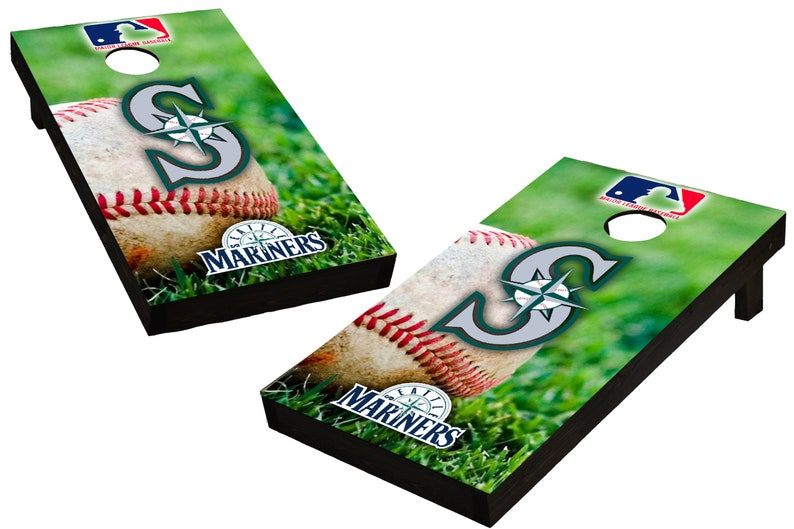 MLB Seattle Marines Themed Custom Cornhole Boards  Regulation image 0