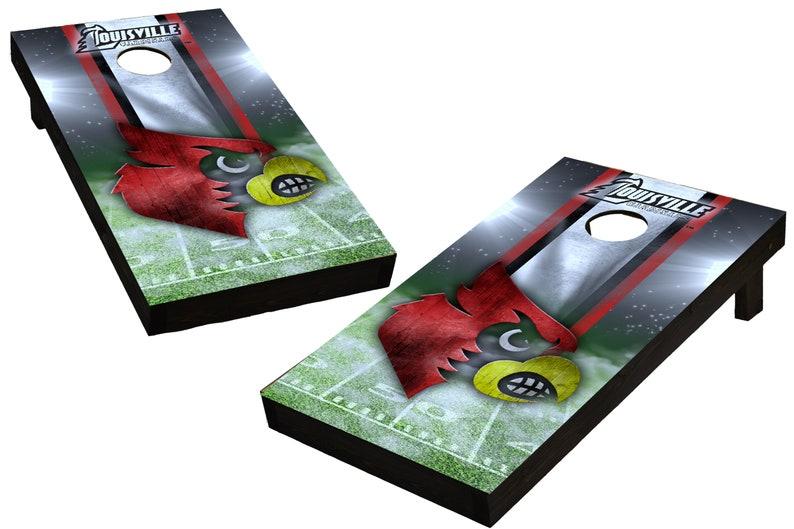 NCAA Louisville Cardinals Custom Cornhole Boards  Regulation image 0
