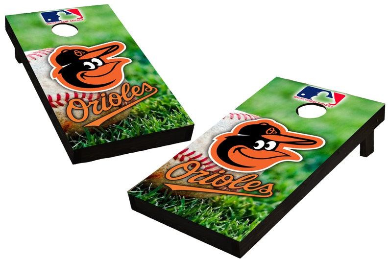 MLB Baltimore Orioles Themed Custom Cornhole Boards  image 0