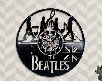 The Beatles Vinyl Record Wall Clock Legend Band Music Beatlemania 12 inches/ 30 cm Music home decor gifts for women children Art decorations