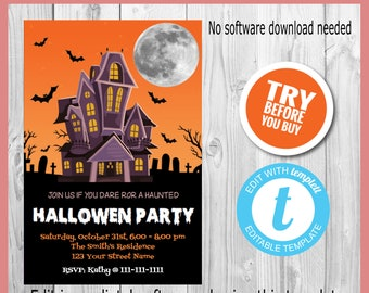 items similar to hand crafted glow in the dark halloween invitations