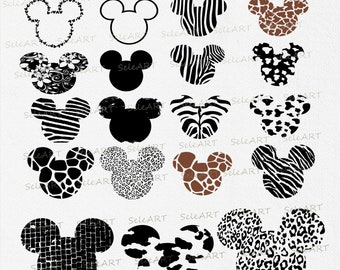 Disney, Mickey, Mouse, Head, Ears, Icon, Digital, Download, TShirt, Cut File, SVG, Iron on, Transfer,svg png, dxf