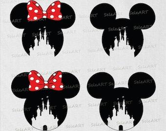 Disney Castle svg, Icon Mickey Mouse, Icon Minnie Mouse, Disney Castle svg , Digital, Download, Cricut File Silhouette Cut file