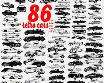 Retro car svg,classic car svg, old car svg, vintage car svg, car svg, hot rod svg,  svg, dxf, eps, png, ai