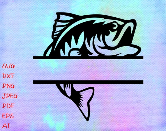 Download Fish Monogram Svg Fish Svg File Fishing Svg Fishing Etsy