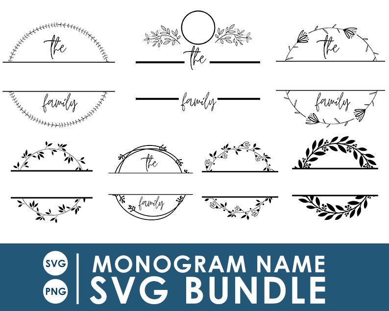 Monogram SVG Bundle  Monogram SVG  Cricut file monogram  image 0