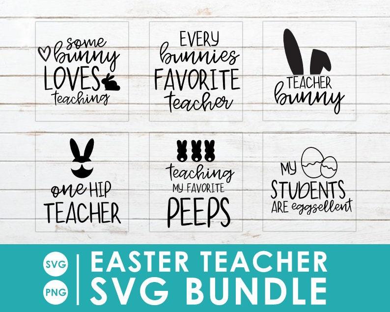 Easter Teacher SVG Bundle image 0