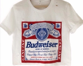 3b26ed6de9b854 Budweiser crop top   officially licensed