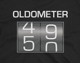 f9ecbf07 Oldometer 49-50 Shirt - Awesome & funny gift for someone turning 50 years  old - Short-Sleeve Unisex T-Shirt