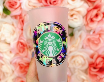 Basic Witch, Hocus Pocus, Halloween Queen, Spooky Season, Personalized Starbucks cup, Reusable Starbucks Cup, Pumpkin Spice, Spooky vibes