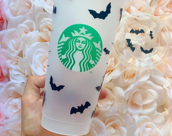 Bats, Halloween, Ghost, Witches Brew, Halloween cup, Spooky, Starbucks Cup, Fall, Halloween Wrap, Pumpkin Queen, Personalized item