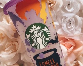Halloween | Halloween Color Changing Cup| Hocus Pocus | personalized cup | custom Starbucks cup| Hocus Pocus Cup | Halloween Cup | Gifts