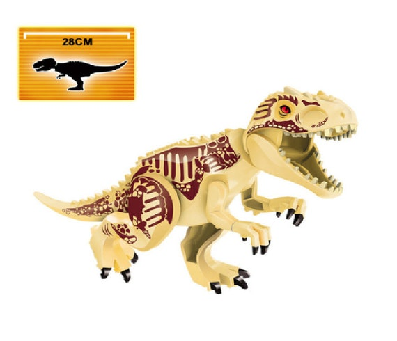 Lego Compatible Jurassic Park World Indominus Rex T-Rex Big Figure