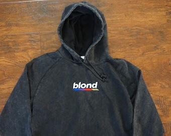 82f28a9fd Blond Vintage Wash Embroidered Pullover Hoodie Frank Ocean Blonde endless  channel orange fleece merch tour nostalgia ultra hip hop vinyl