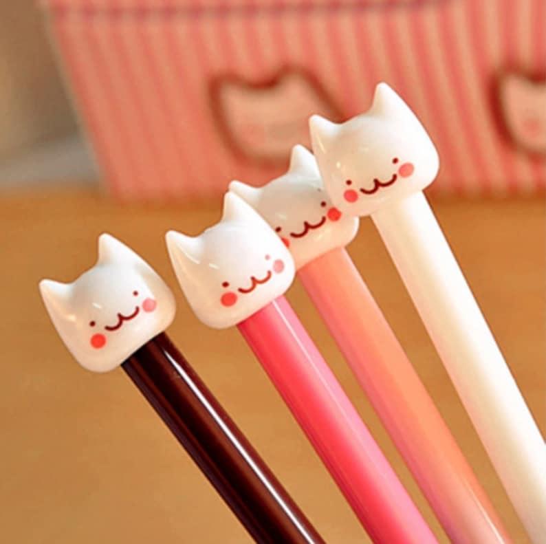 Cheeky Cat Gel Pens  Cat Gel Pen  Cartoon Cat Pen